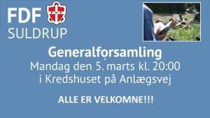 Generalforsamling @ FDF Kredshus | Suldrup | Danmark