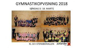Gymnastik Opvisning @ Stensbohallen