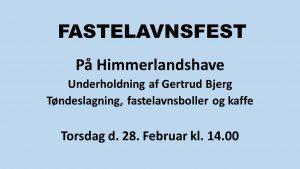 Fastelavnsfest @ Himmerlandshave